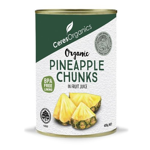 Ceres Organics Organic Pineapple Chunks in Fruit Juice 400g