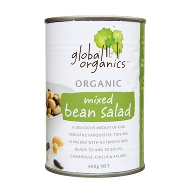 global organics mixed bean salad