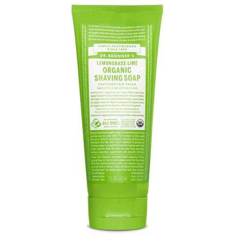 Dr. Bronner's Organic Shaving Soap – Lemongrass Lime