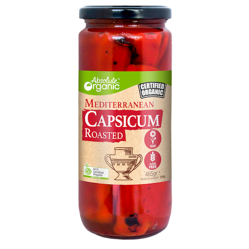 Absolute Organic Capsicum Roasted 465g