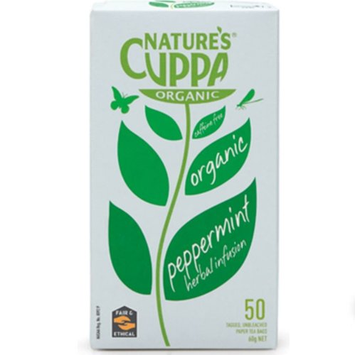 natures cuppa organic Peppermint herbal