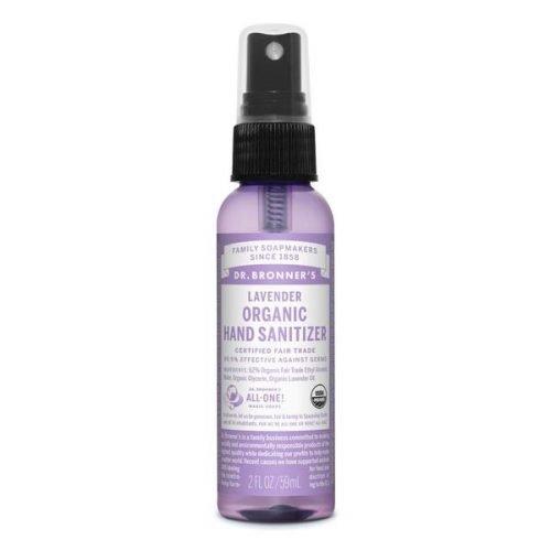 Dr Bronner's Organic Hand Sanitiser – Lavender 59mL