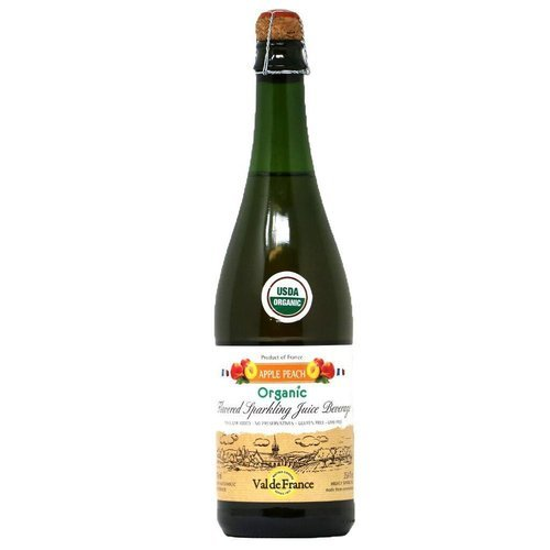 Val de France Organic Sparkling Juice – Apple Peach