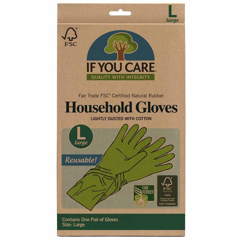 If You Care Household Natural Rubber Gloves – Large Size