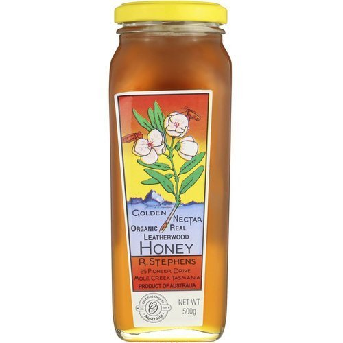 golden nectar organic leatherwood honey 500g