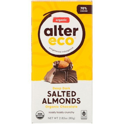 Alter Eco Organic Chocolate – Deep Dark Salted Almonds