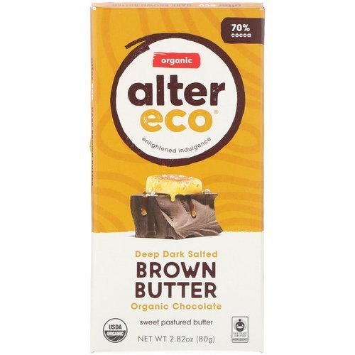 Alter Eco Organic Chocolate – Deep Dark Salted Brown Butter