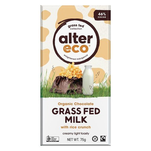 Alter Eco Organic Chocolate – Grass Fed Milk with Rice Crunch