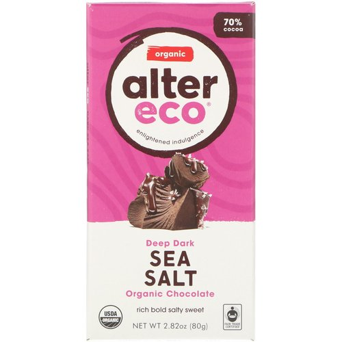 Alter Eco Organic Chocolate Deep Dark Sea Salt