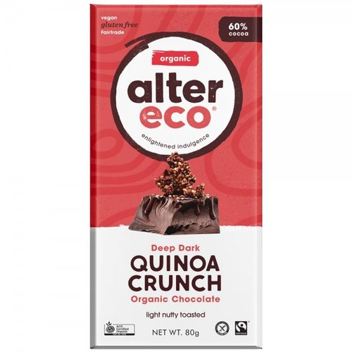 Alter Eco Organic Chocolate – Deep Dark Quinoa Crunch