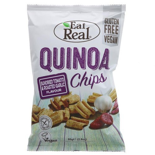 Eat Real Quinoa Chips – Sundried Tomato & Roasted Garlic Flavour